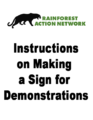 Instructions on Making a Sign for Demonstrations