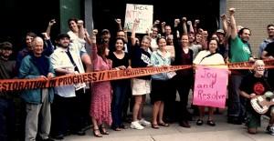 Burlington, Vermont standing in solidarity