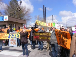 Chevron refinery blockade, March 2013.